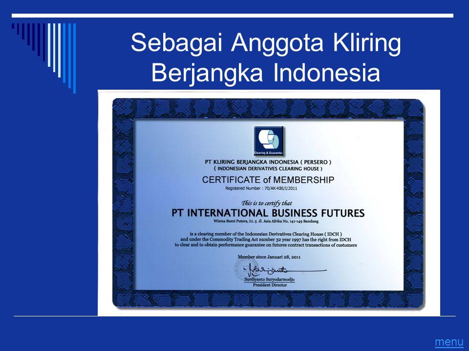 Sebagai Anggota Kliring Berjangka Indonesia menu