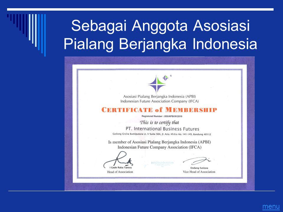 Sebagai Anggota Asosiasi Pialang Berjangka Indonesia menu