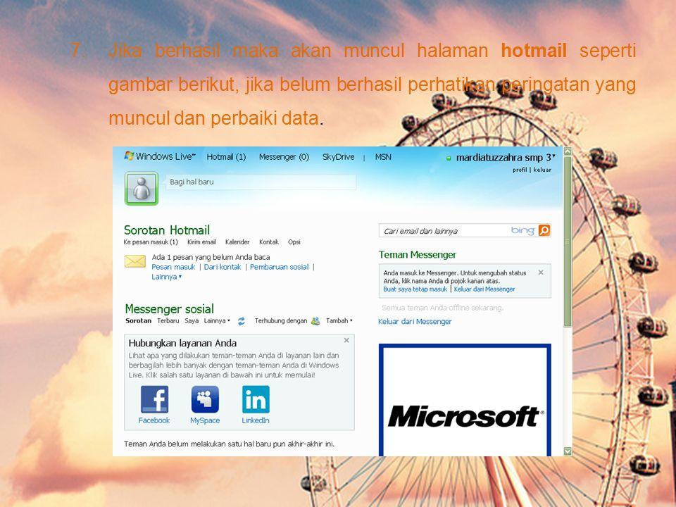 3.Kemudian isi data pribadi anda yang diminta Hotmail. Sebagai opsi, anda bisa memilih domain @hotmail.co.id atau @hotmail.com atau @WINDOWSLIVE.com d