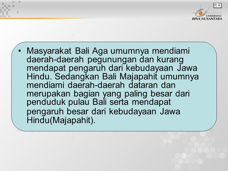 Sistem pelapisan sosial yang ada dalam masyarakat Bali didasarkan atas keturunan ( sistem kasta).