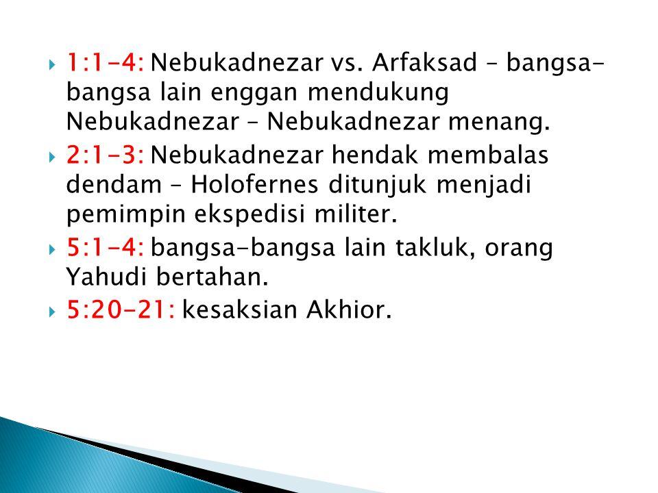  1:1-4: Nebukadnezar vs.
