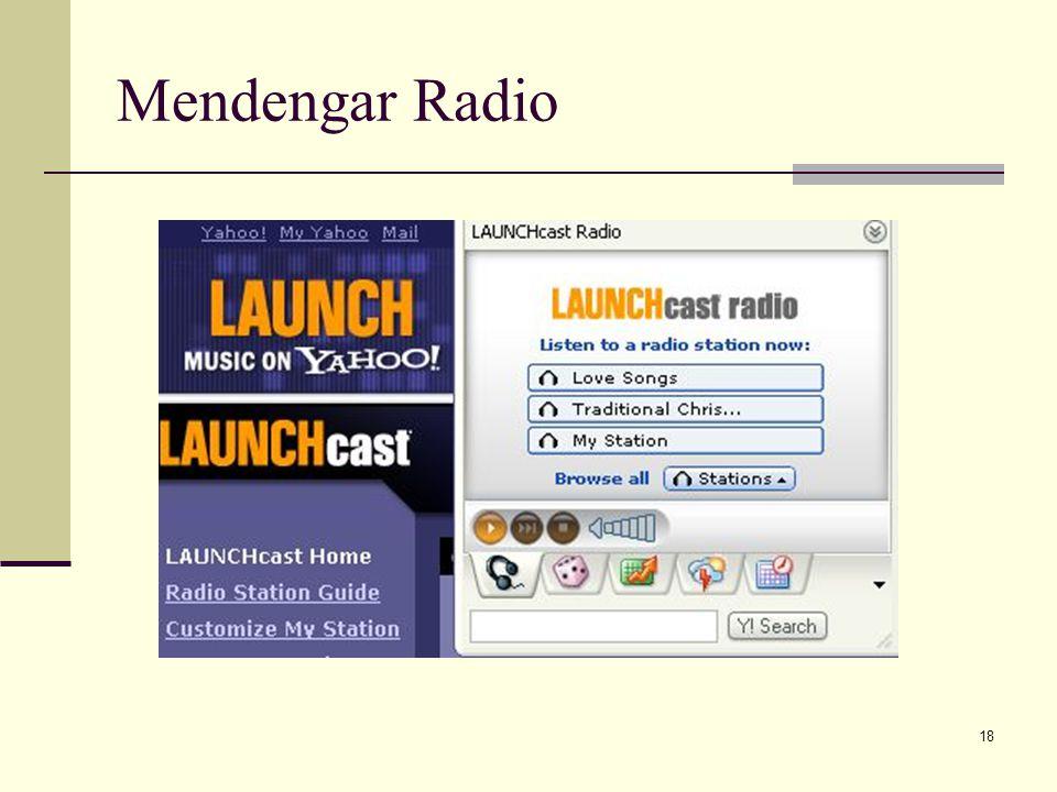 18 Mendengar Radio