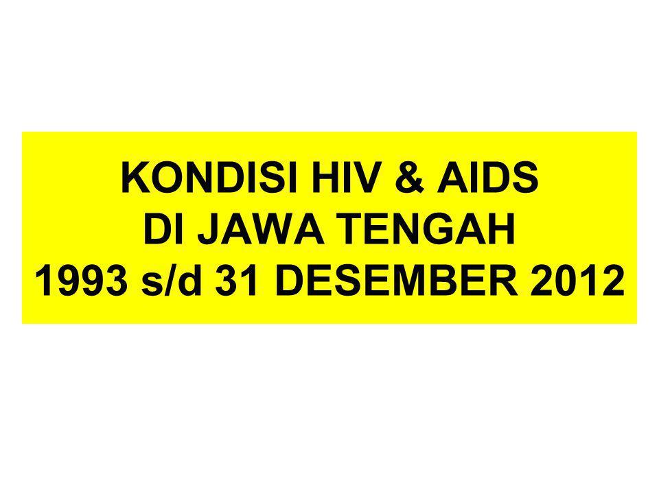 KONDISI HIV & AIDS DI JAWA TENGAH 1993 s/d 31 DESEMBER 2012