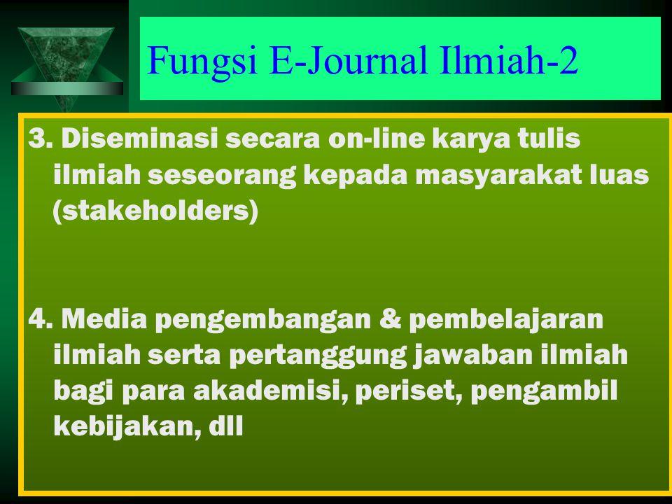 Fungsi E-Journal Ilmiah-2 3.