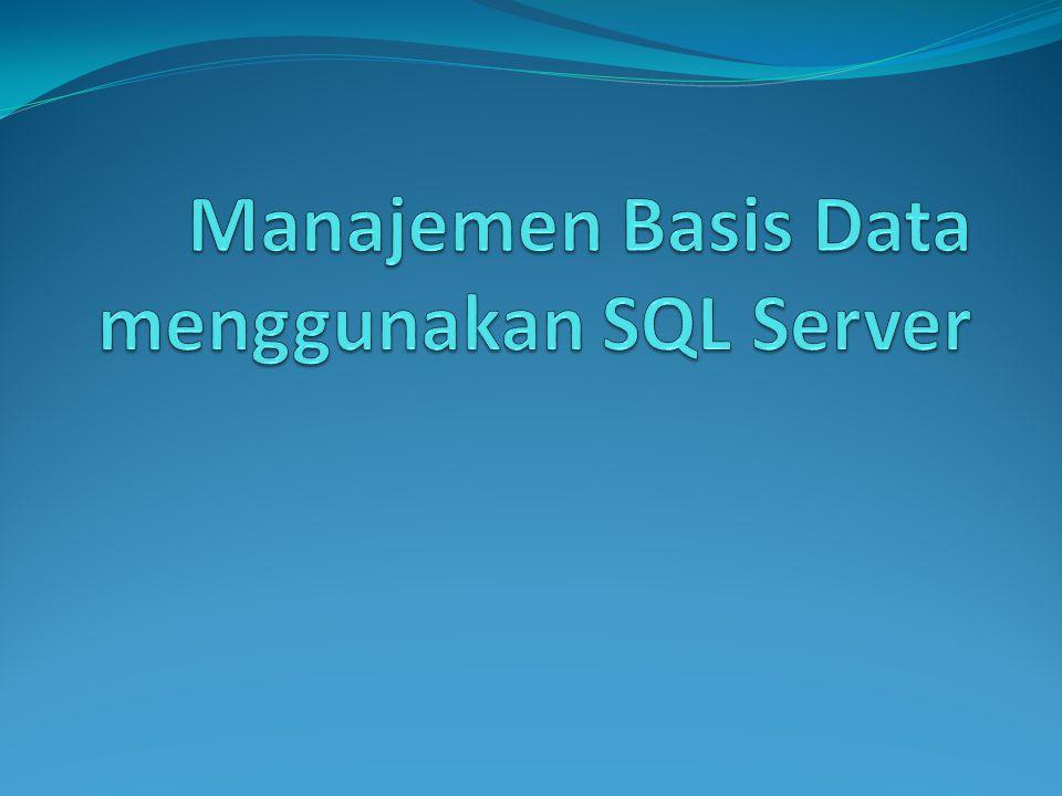 Mengisikan Data ke Database Insert into [nama_table] values ([isi data pada tiap kolom]) Contoh: Insert into Mahasiswa values('Adi', '682009001', 'Solo')