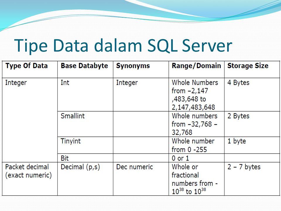 Tipe Data dalam SQL Server