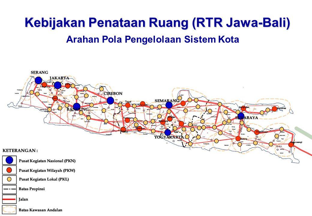 Kebijakan Penataan Ruang (RTR Jawa-Bali) Arahan Pola Pengelolaan Sistem Kota