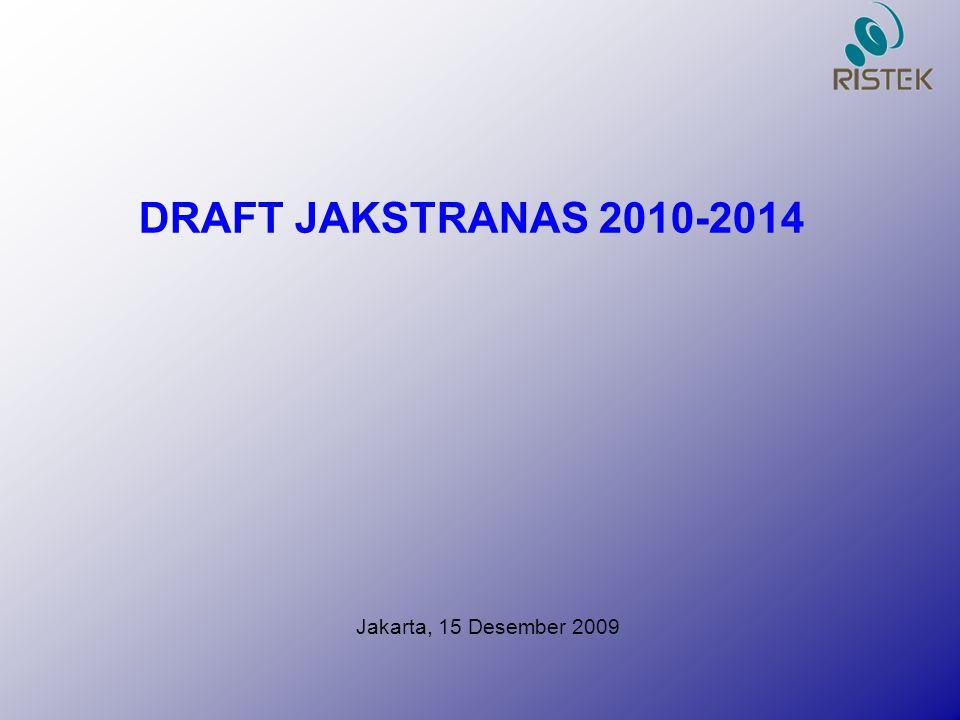 Jakarta, 15 Desember 2009 DRAFT JAKSTRANAS 2010-2014