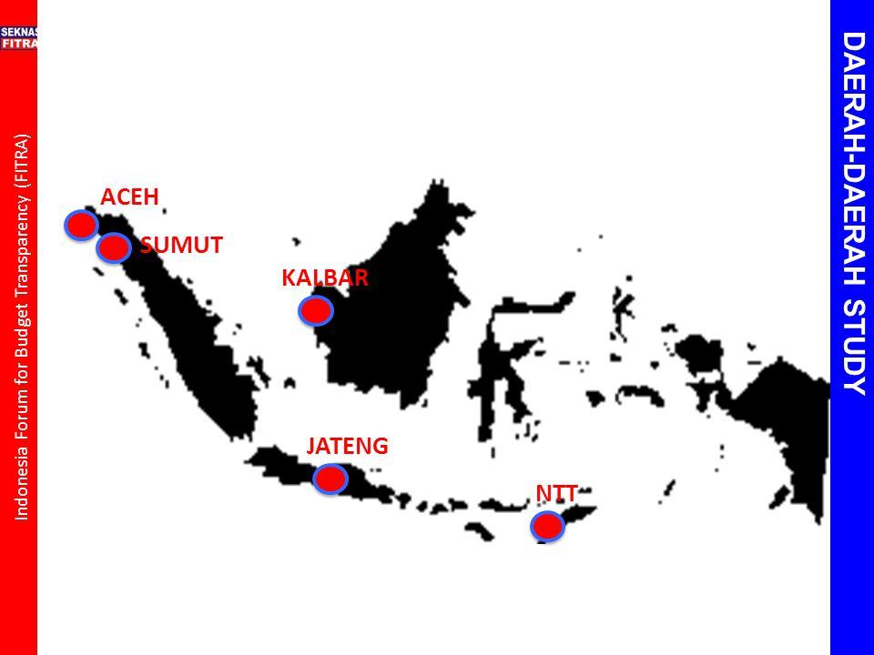 Indonesia Forum for Budget Transparency (FITRA) ACEH SUMUT KALBAR JATENG NTT DAERAH-DAERAH STUDY