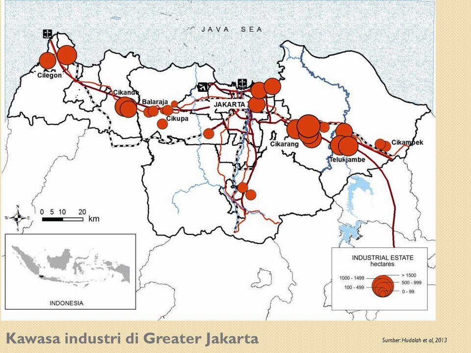 Kawasa industri di Greater Jakarta Sumber: Hudalah et al, 2013