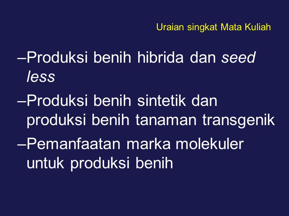 DAFTAR PUSTAKA Mugnisjah, W.Q dan A.Setiawan. 1989.