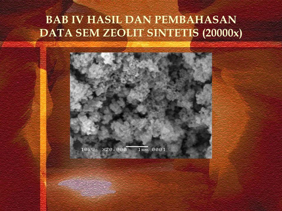 BAB IV HASIL DAN PEMBAHASAN DATA SEM ZEOLIT SINTETIS (20000x)