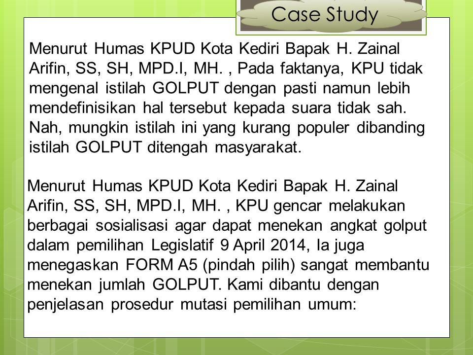 Case Study Hasil Observasi & Wawancara Berdasarkan Hasil Wawancara, Senin 24 Maret 2014.