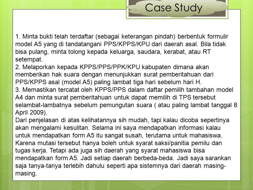 Case Study Menurut Humas KPUD Kota Kediri Bapak H.