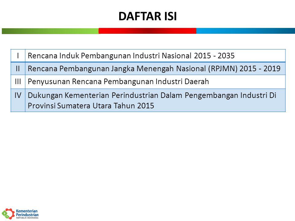 3 I.RENCANA INDUK PEMBANGUNAN INDUSTRI NASIONAL 2015 - 2035