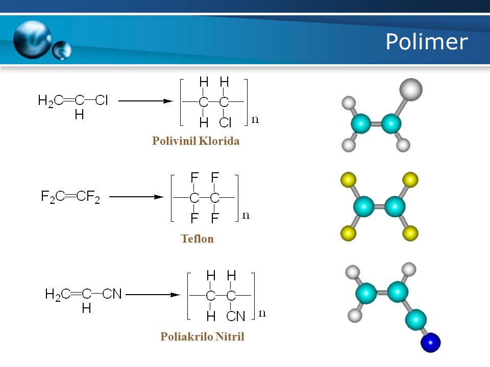 Polimer Polivinil Klorida Teflon Poliakrilo Nitril