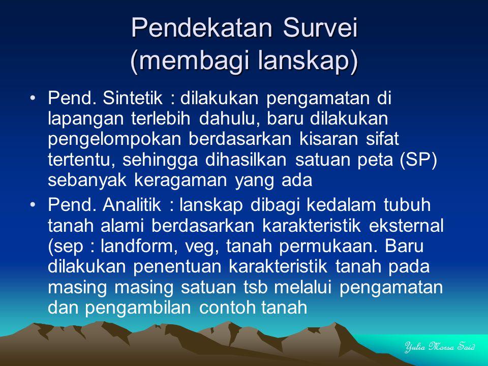 Pendekatan Survei (membagi lanskap) Pend.