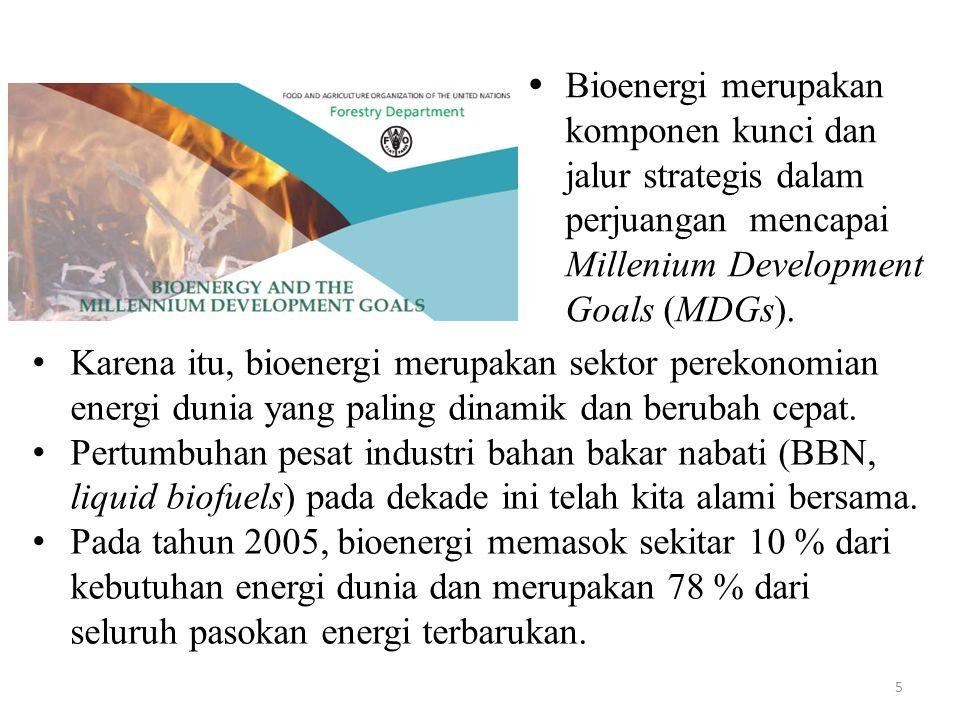 LitBangRap yang diperlukan R & D perluasan basis/pangkalan sumber daya (resource base) bioenergi (yaitu pengkajian dan pengembangan tumbuhan-tumbuhan energi multiguna).