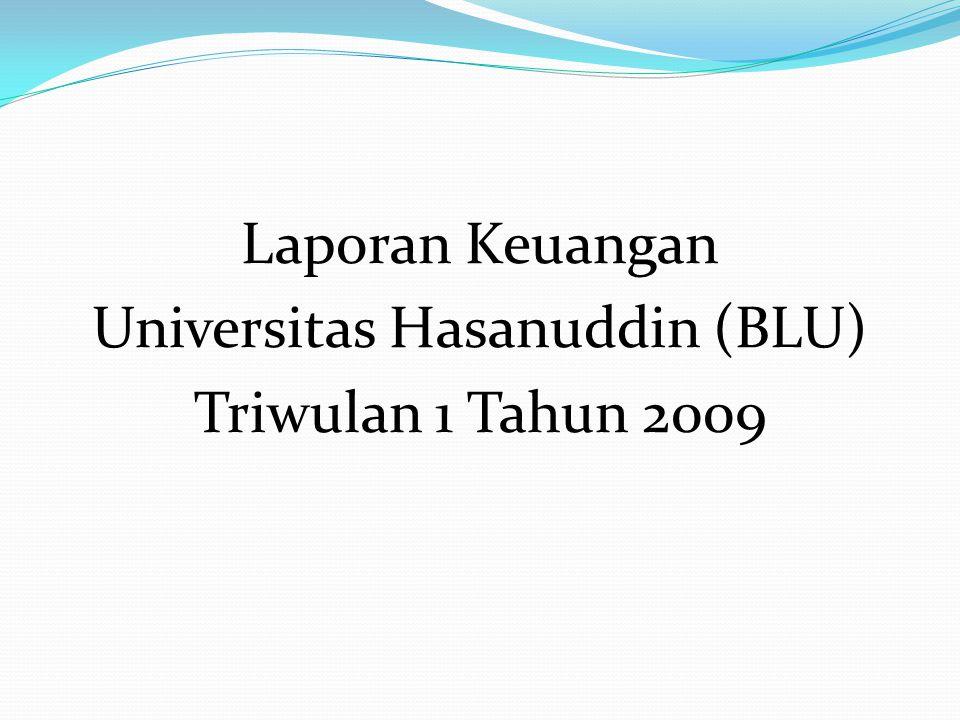 Laporan Keuangan Universitas Hasanuddin (BLU) Triwulan 1 Tahun 2009