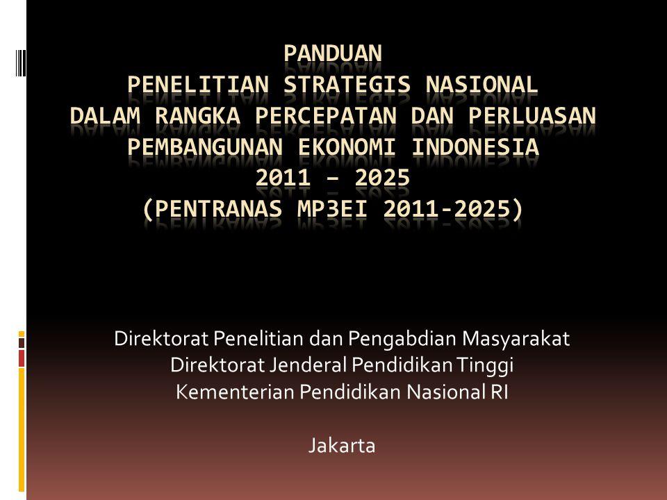 Direktorat Penelitian dan Pengabdian Masyarakat Direktorat Jenderal Pendidikan Tinggi Kementerian Pendidikan Nasional RI Jakarta