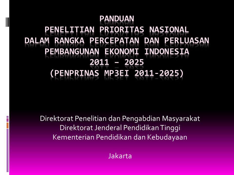 Direktorat Penelitian dan Pengabdian Masyarakat Direktorat Jenderal Pendidikan Tinggi Kementerian Pendidikan dan Kebudayaan Jakarta
