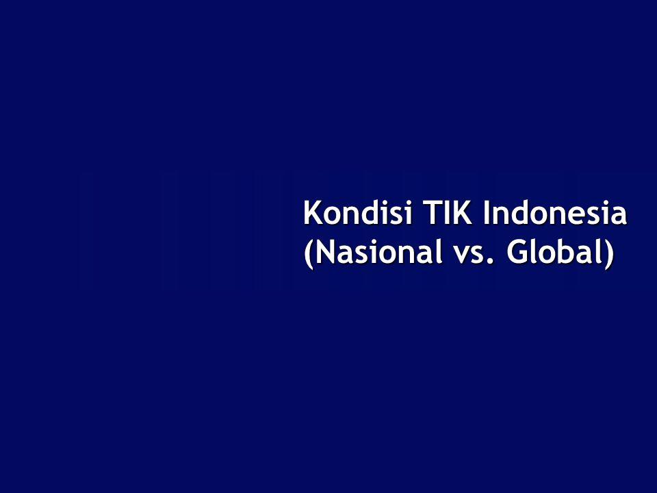 Kondisi TIK Indonesia (Nasional vs. Global)