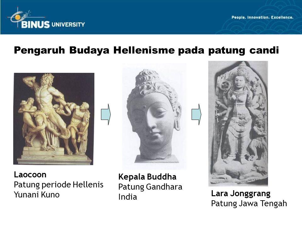 Laocoon Patung periode Hellenis Yunani Kuno Kepala Buddha Patung Gandhara India Lara Jonggrang Patung Jawa Tengah Pengaruh Budaya Hellenisme pada patung candi