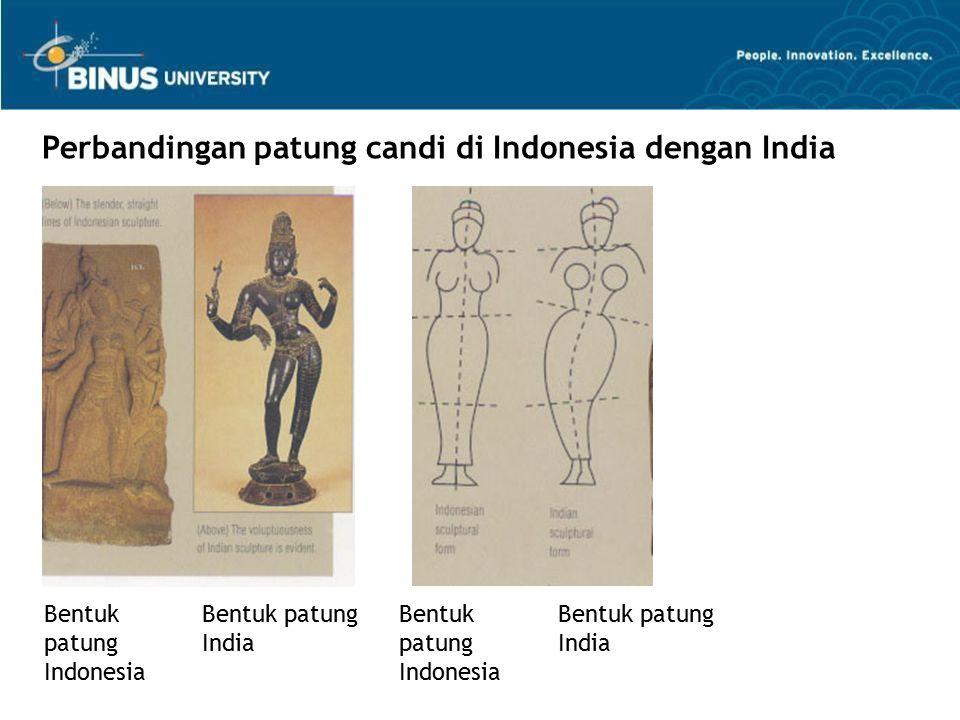 Bentuk patung Indonesia Bentuk patung India Perbandingan patung candi di Indonesia dengan India Bentuk patung Indonesia Bentuk patung India