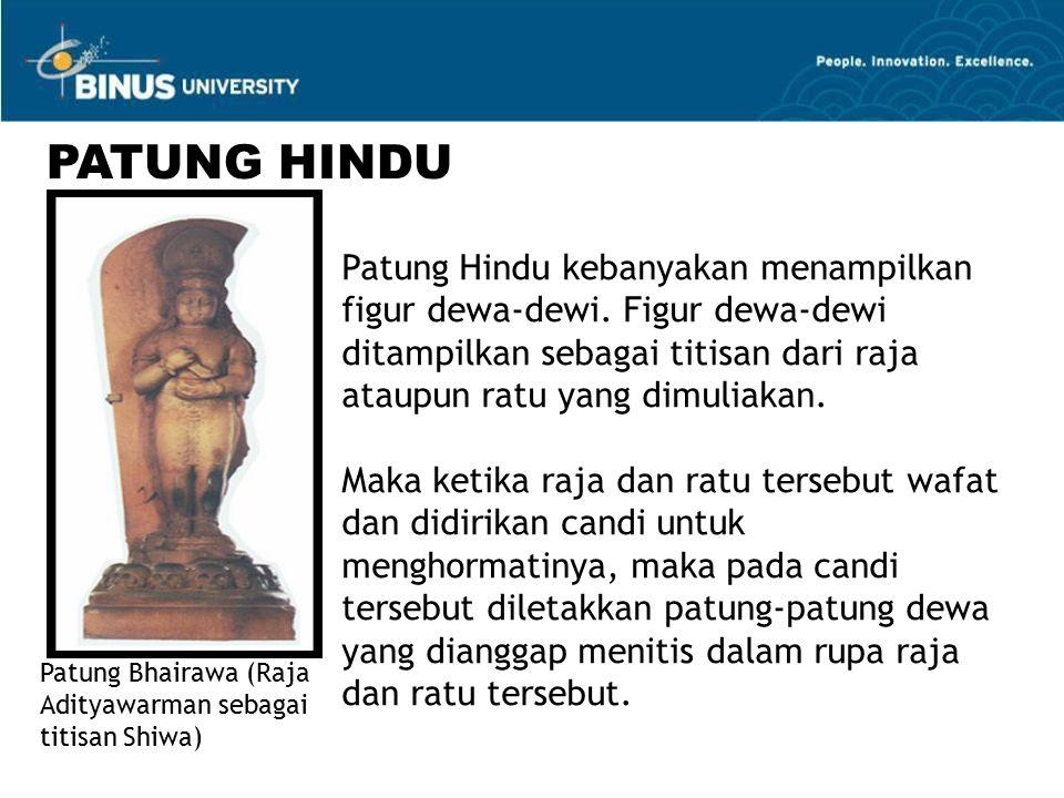 Patung Hindu kebanyakan menampilkan figur dewa-dewi.