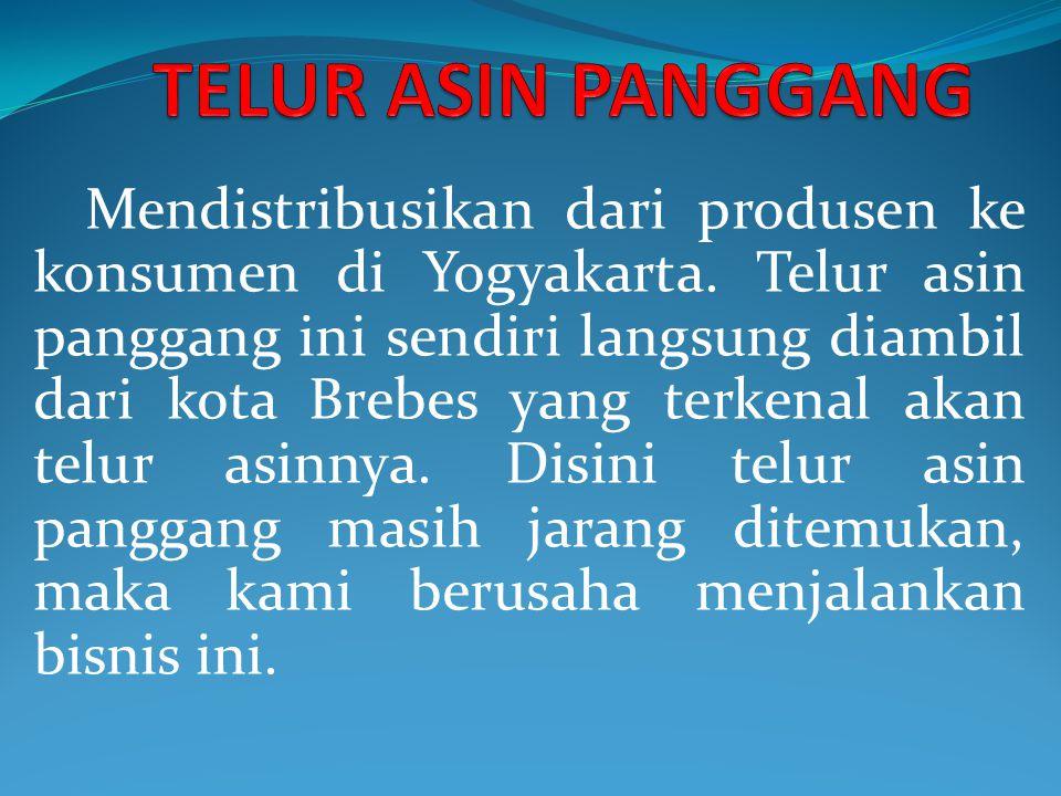 Mendistribusikan dari produsen ke konsumen di Yogyakarta.