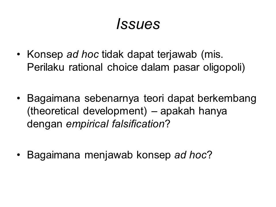 Issues Konsep ad hoc tidak dapat terjawab (mis.