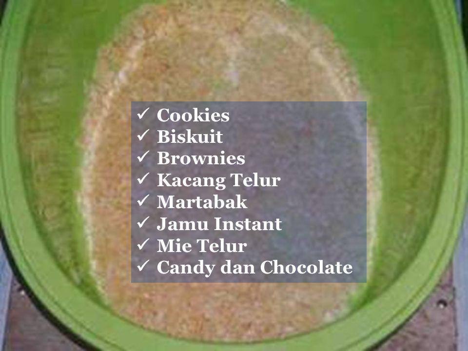 PEMANFAATAN TEPUNG TELUR DALAM INDUSTRI PANGAN 81 Cookies Biskuit Brownies Kacang Telur Martabak Jamu Instant Mie Telur Candy dan Chocolate