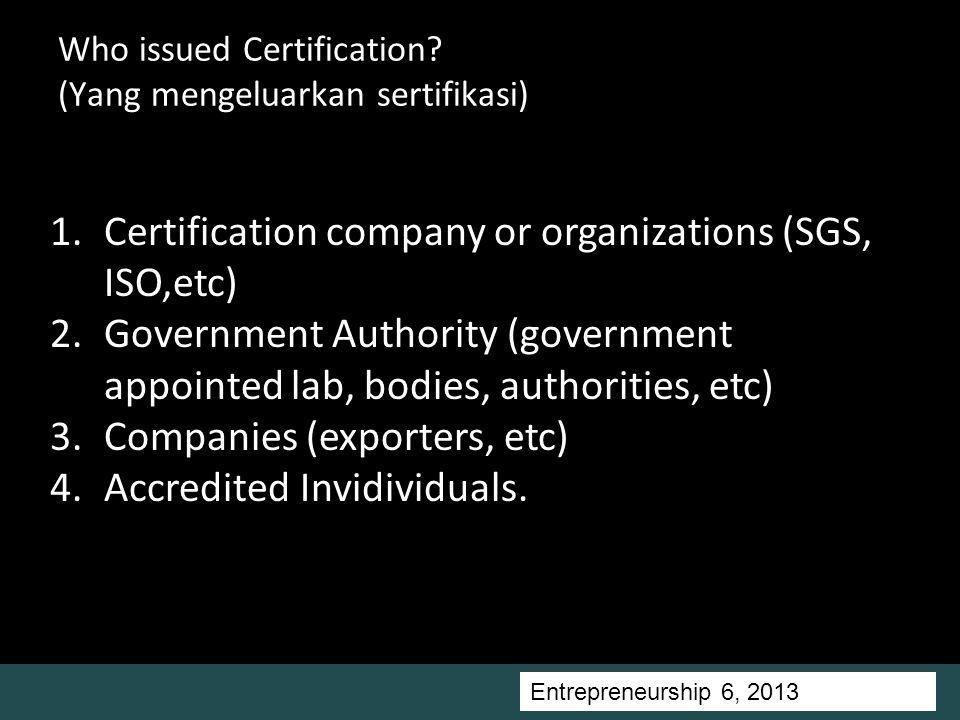 Entrepreneurship 5, Universitas Ciputra, 2011 Who issued Certification.