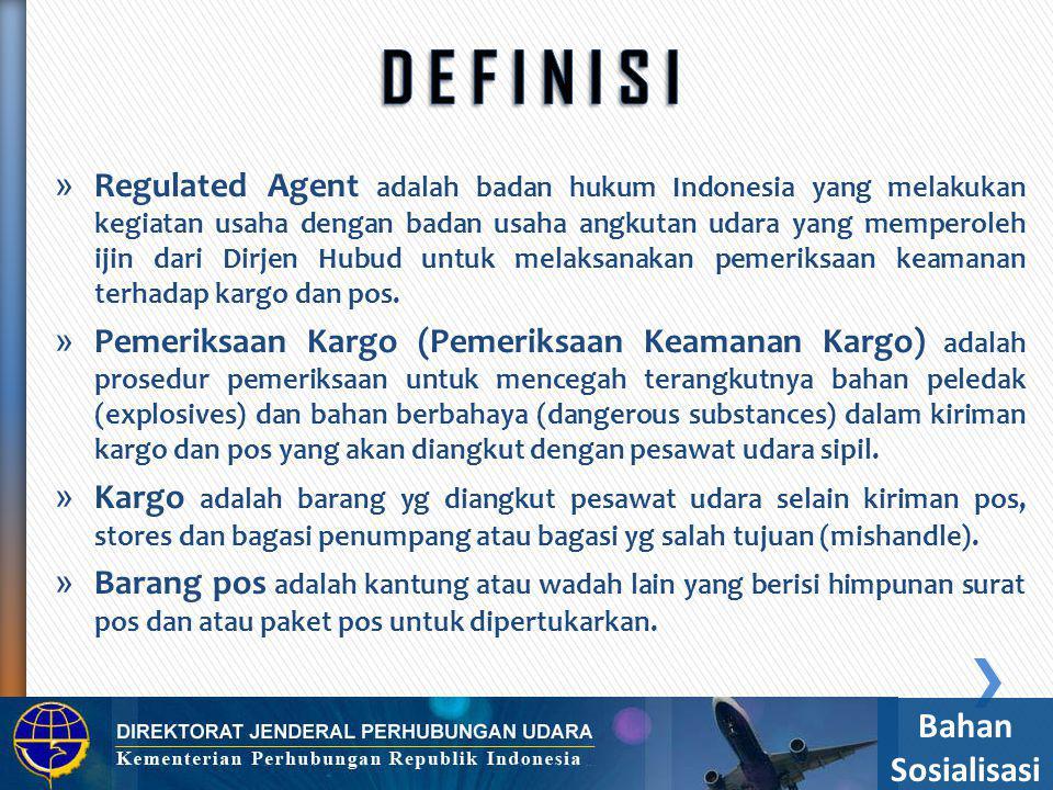» Sertifikat Keamanan Pengiriman (Consignment Security Sertificate) adalah dokumen yang ditandatangani oleh regulated agent yang menjamin bahwa kiriman kargo dan pos yang diserahkan ke badan usaha angkutan udara telah memenuhi persyaratan keamanan.