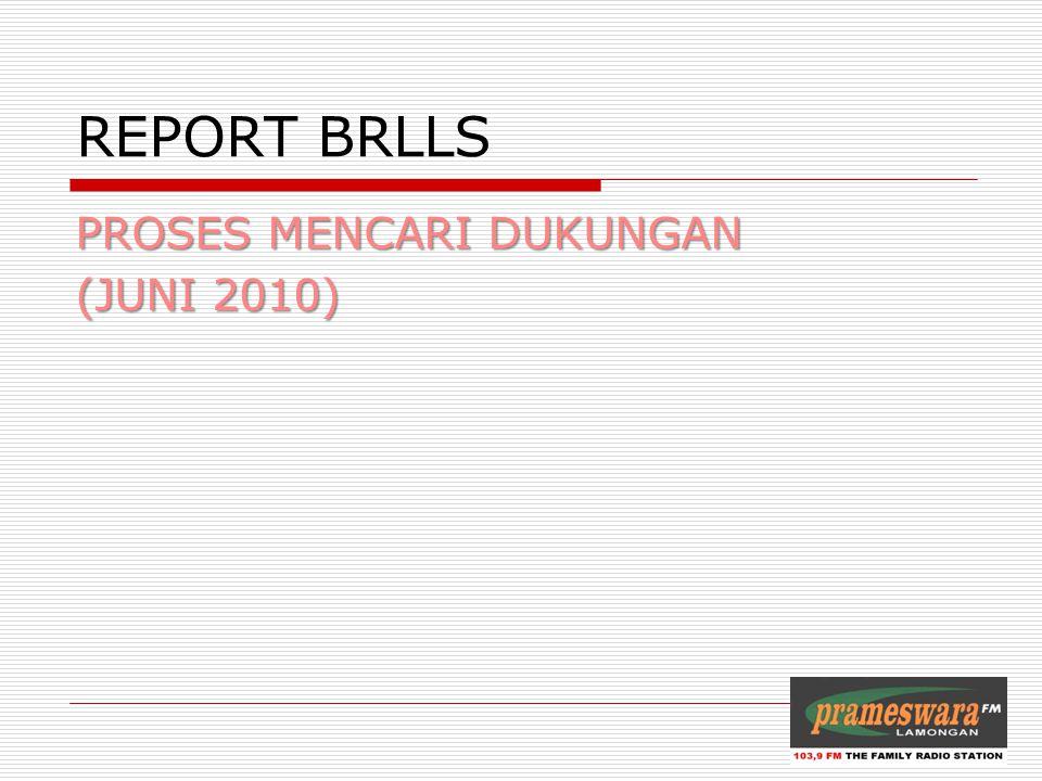 REPORT BRLLS PROSES MENCARI DUKUNGAN (JUNI 2010)