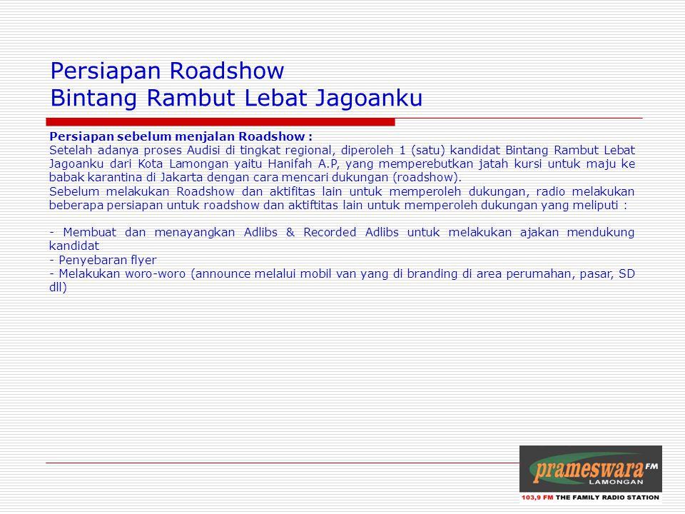 Logo Radio Persiapan Roadshow Bintang Rambut Lebat Jagoanku Persiapan sebelum menjalan Roadshow : Setelah adanya proses Audisi di tingkat regional, di