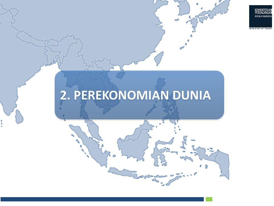 KONSEP dan STRATEGI PENGEMBANGAN EKSPOR Mengurangi ketergantungan pasar tujuan ekspor ke negara- negara tertentu, dengan membuka pasar-pasar tujuan ekspor baru lainnya yang juga potensial Pengembangan Pasar Ekspor Mengembangkan ekspor ke target pasar-pasar baru (pasar alternatif), khususnya negara-negara yang berada di kawasan Amerika Latin, Afrika, Eropa Timur, Timur Tengah dan ASEAN Melakukan diversifikasi produk ekspor dengan meningkatkan kontribusi ekspor komoditi- komoditi diluar 10 produk utama terhadap total ekspor non-migas Diversifikasi Produk Ekspor Mengembangkan Diversifikasi Produk Ekspor, melalui Adaptasi Produk dan Pengembangan Disain Meningkatkan pencitraan Indonesia dipasar Internasional melalui program Nation Branding Pengembangan Citra Indonesia Implementasi Nation Branding di media internasional Peningkatan E kspor Nasional 1.