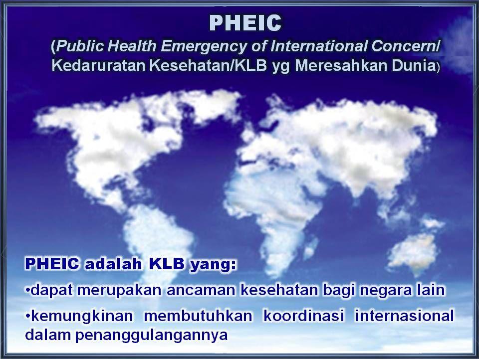 PERUBAHAN DALAM IHR 2005 Memberitahu WHO semua PHEIC National IHR Focal Points beserta pejabat yg berwenang Definisi core capacities/kemampuan utama p