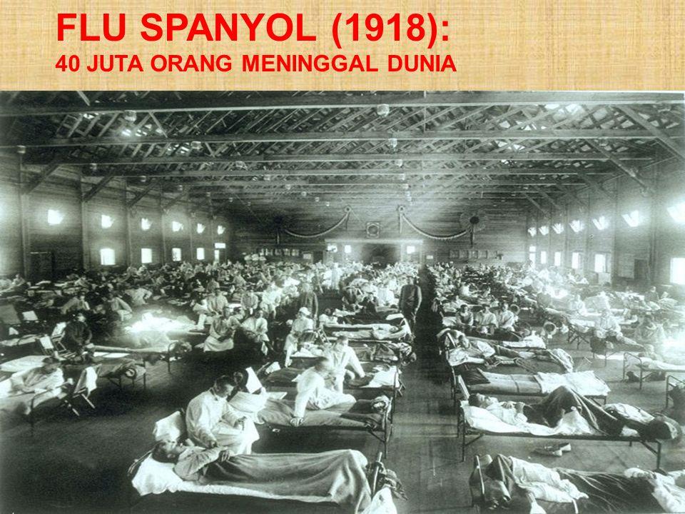 FLU SPANYOL (1918): 40 JUTA ORANG MENINGGAL DUNIA