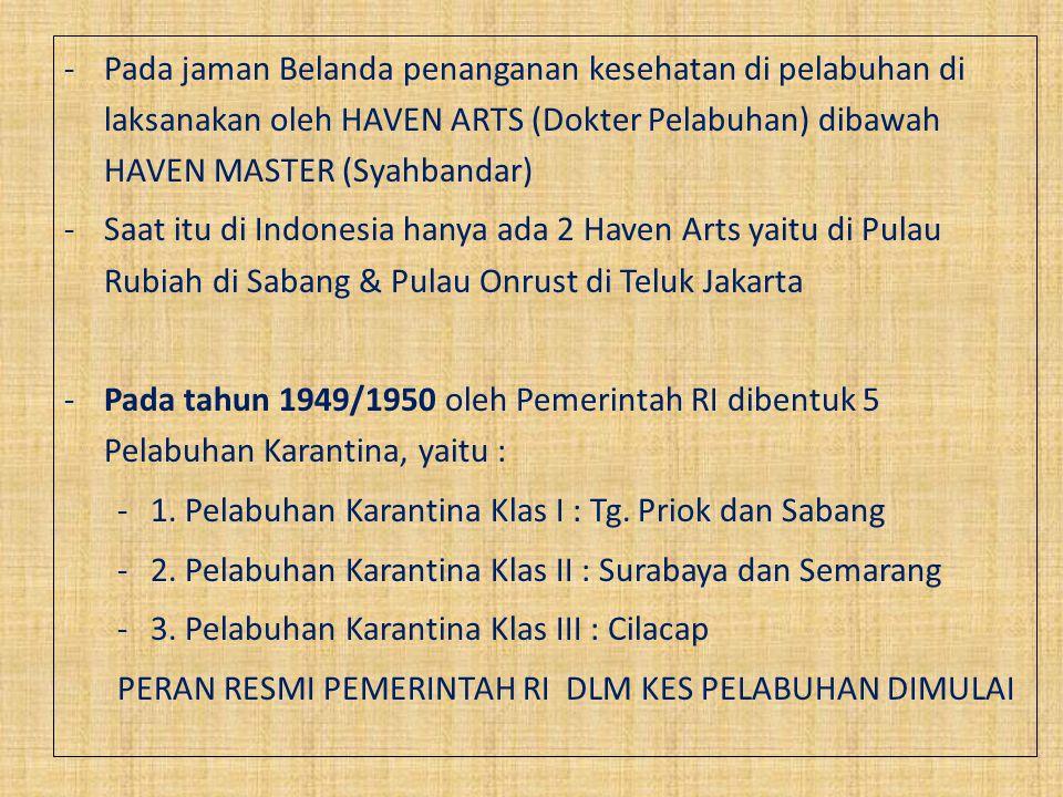 Tahun 2008 terbit Permenkes No.356 tentang Organisasi dan Tata Kerja KKP: a.