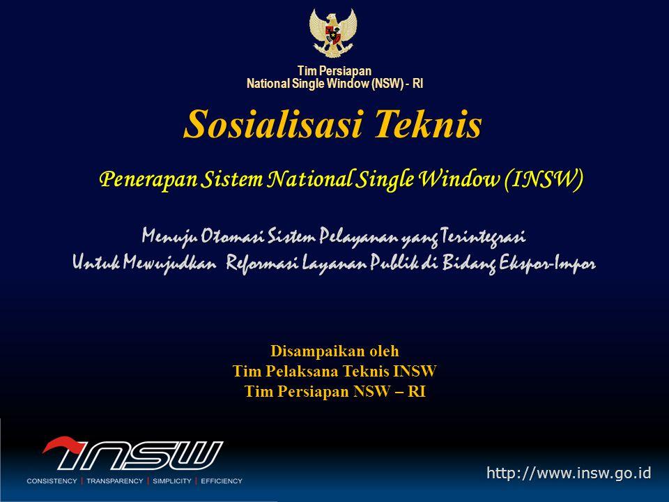 Tim Persiapan National Single Window (NSW) Republik Indonesia http://www.insw.go.id Tata Cara Penulisan Nomor Dokumen 1.