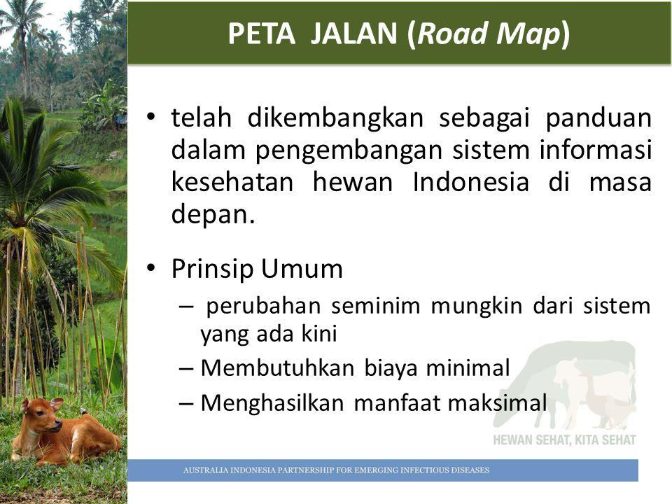 PETA JALAN (Road Map) telah dikembangkan sebagai panduan dalam pengembangan sistem informasi kesehatan hewan Indonesia di masa depan. Prinsip Umum – p