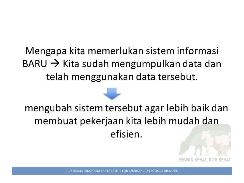 Mengapa kita memerlukan sistem informasi BARU  Kita sudah mengumpulkan data dan telah menggunakan data tersebut. mengubah sistem tersebut agar lebih
