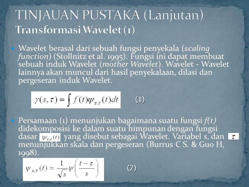 Wavelet berasal dari sebuah fungsi penyekala (scaling function) (Stollnitz et al.