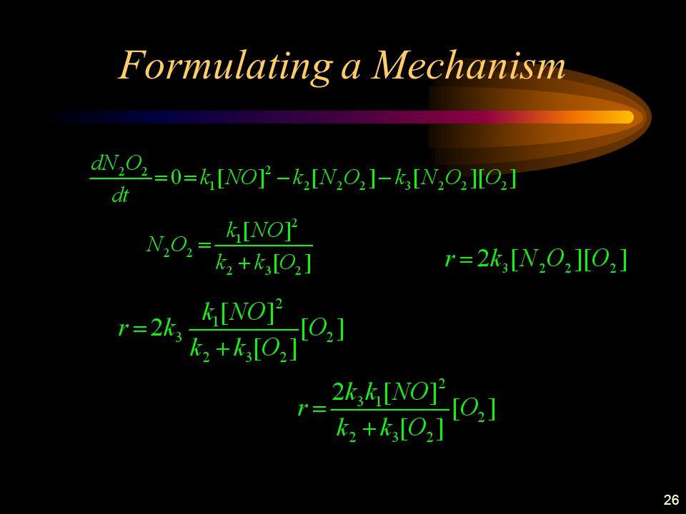 26 Formulating a Mechanism