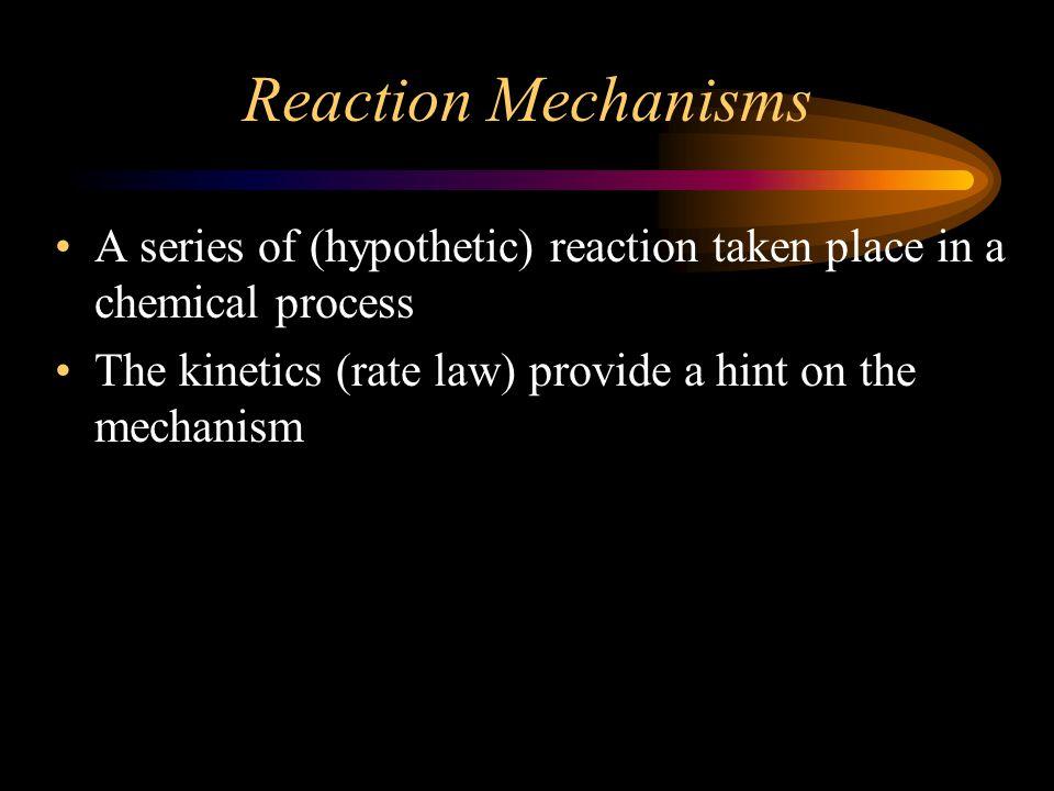 4 Mechanisms and rates Setiap tahap elementer memiliki nilai energi aktivasi Energi aktivasi menentukan nilai k.