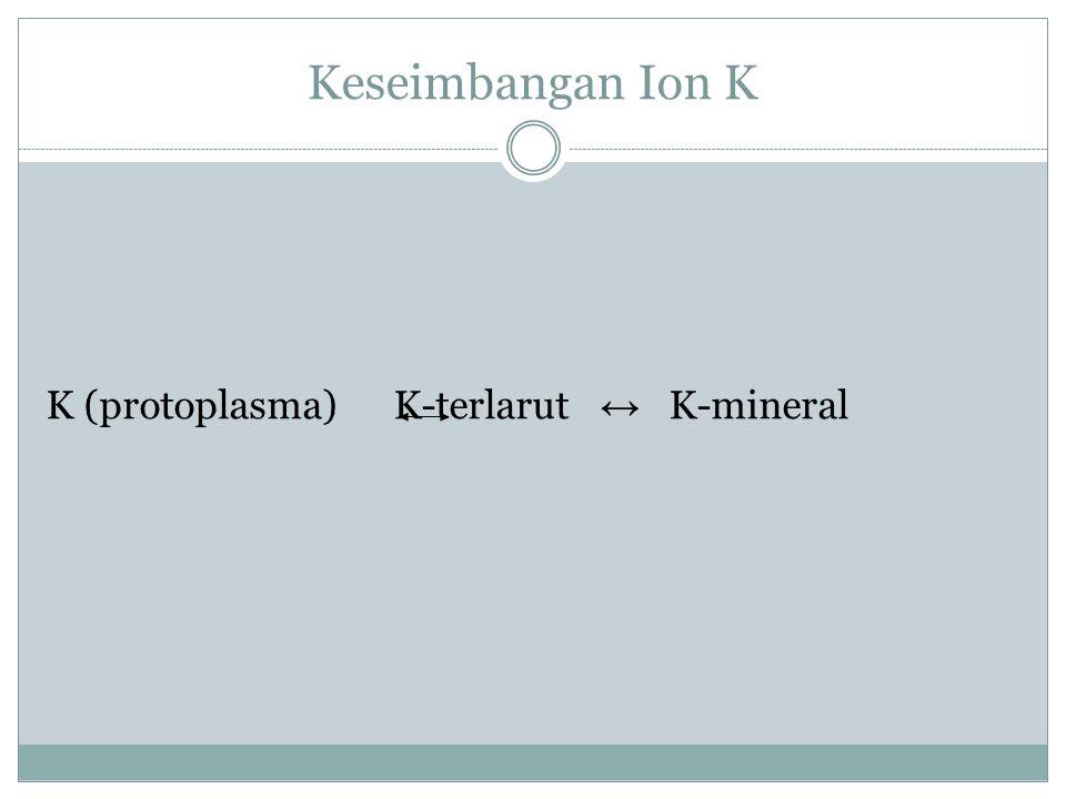 PROSES DAN JASAD MIKRO Proses : perombakan bahan organik & pelarutan K-mineral Pelarutan K mineral : melalui dekomposisi lapisan silikat mineral liat