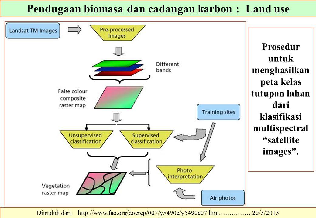 Diunduh dari: http://www.fao.org/docrep/007/y5490e/y5490e07.htm…………… 20/3/2013 Prosedur untuk menghasilkan peta kelas tutupan lahan dari klasifikasi m