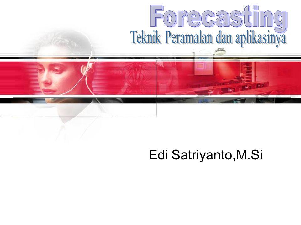 Pendahuluan Forecasting = Peramalan(perkiraan) mengenai sesuatu yg belum terjadi.