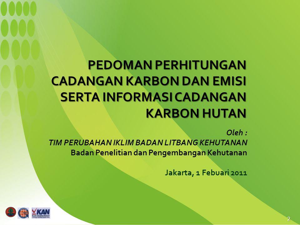2 Oleh : TIM PERUBAHAN IKLIM BADAN LITBANG KEHUTANAN Badan Penelitian dan Pengembangan Kehutanan Jakarta, 1 Febuari 2011